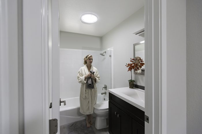 Bathroom with Vent Kit